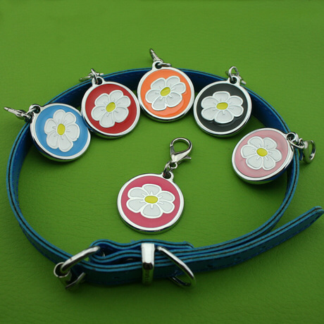 Flower pet tags