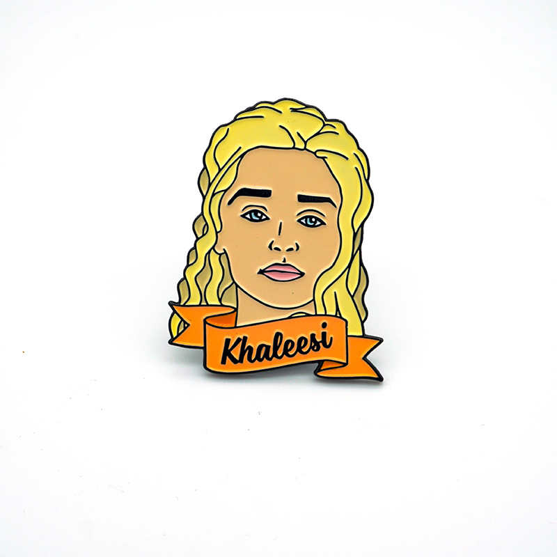Khaleesi Pin Badges-Dragon mother soft enamel pin