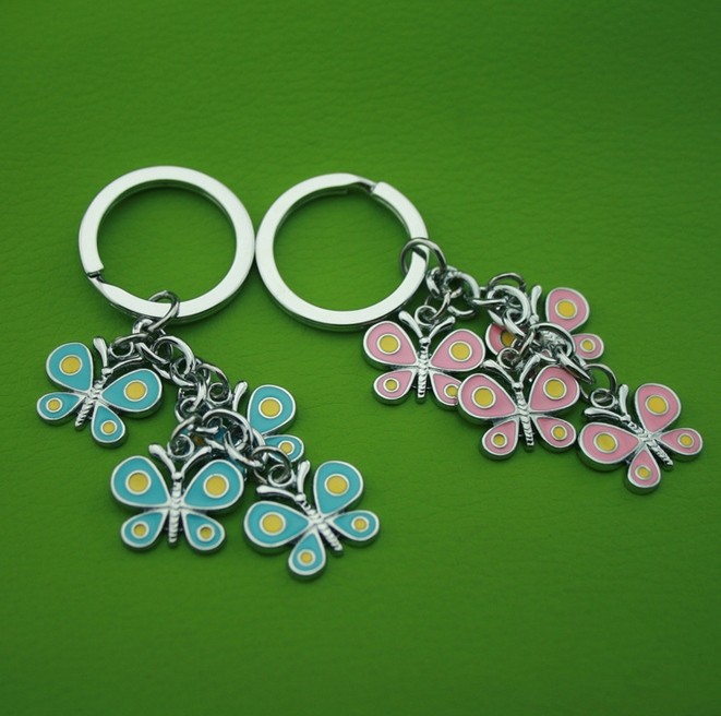 Custom made Butterfly and Leaf keychain Sets
