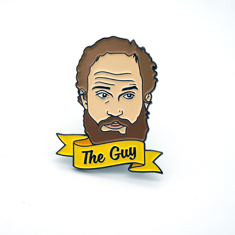 The Guy soft enamel pin