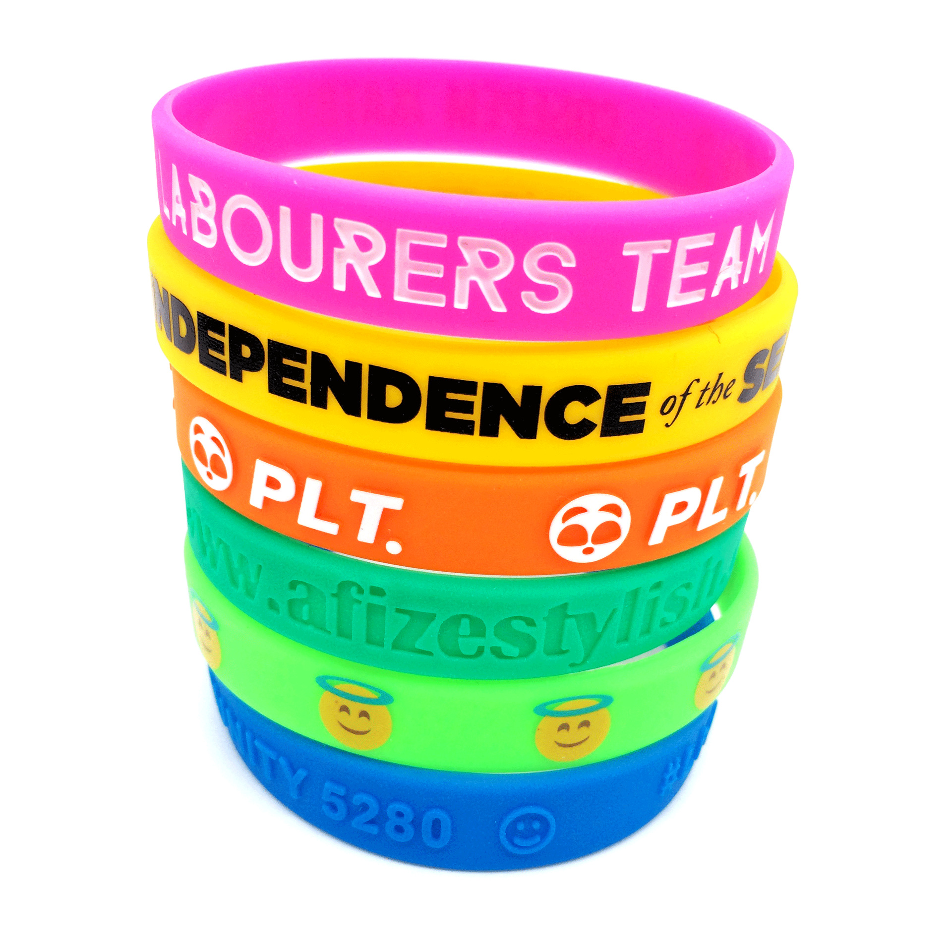 Personalized Silicone Wristbands/ Bracelets