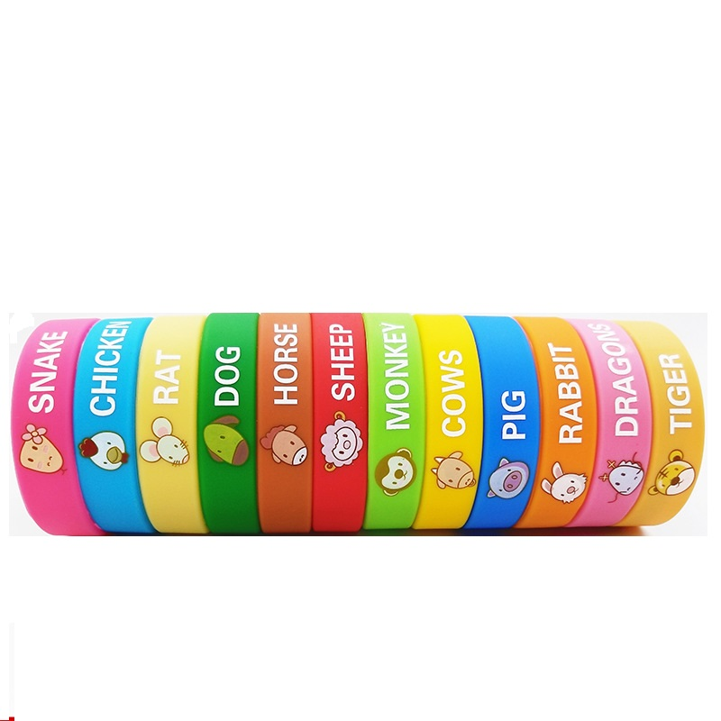 Printed Silicone Wristbands/Bracelets