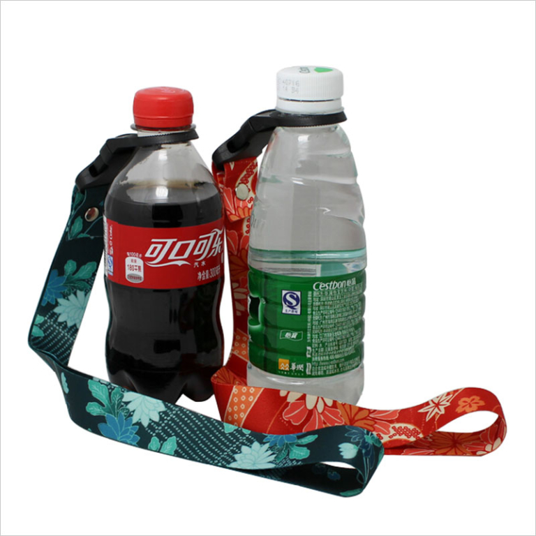 Promo printed water bottle holder shoulder strap