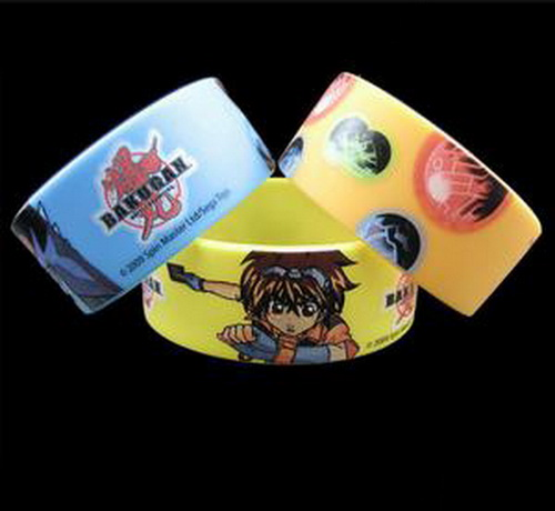 CMYK Offset printing silicone bracelets